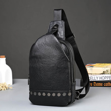 trend of Korean men Crossbody Bag and chest rivet trend six star tide package bags chest pack