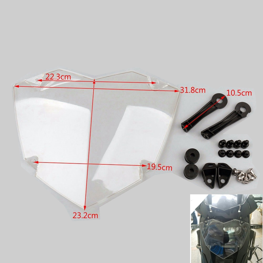 Motorcycle Transparent Headlight Cover Headlamp Guard for BMW R1200GS WC ADV Adventure 2013-Up Motorcycle Light Protector motorcycle abs turn signal light lamp button housing cover guard protector for bmw r1200gs r1200 gs adv r1200rt r 1200rt