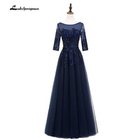 Vintage navy blue Mother Of The Bride Dresses Cap Sleeve A Line Tulle Bridal Wedding Mother Dress Vestido De Madrinha