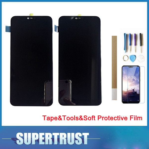 For Nokia 7.1 TA-1085 TA-1095 TA-1096 TA-1100 LCD Display +Touch Screen Digitizer Replacement Black with Tape&Tool&Soft FilmFor Nokia 7.1 TA-1085 TA-1095 TA-1096 TA-1100 LCD Display +Touch Screen Digitizer Replacement Black with Tape&Tool&Soft Film
