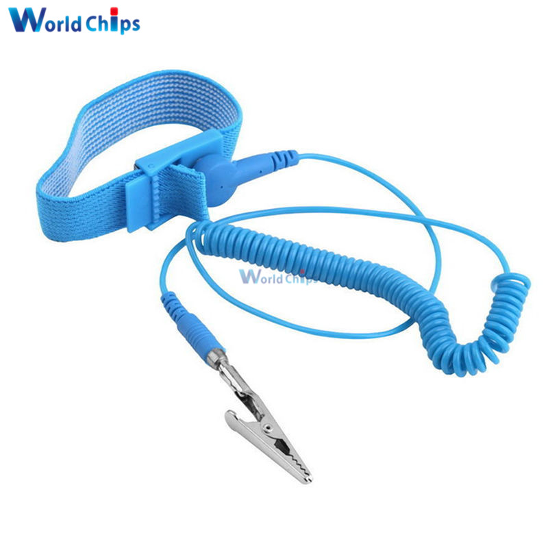 Hand & Power Tool Accessories Cordless Wireless Clip Antistatic Anti Static Esd Wristband Wrist Strap Discharge Cables For Electrician Ic Plcc Worke