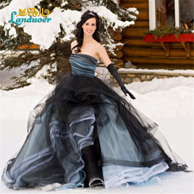 Eccezionale Puffy abito di sfera abiti da sposa gotico 2017 colore Turchia  BE29