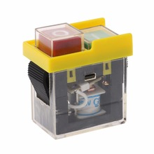 AC 250V 6A IP54 Waterproof Electromagnetic Pushbutton Machine Saw Cutter Drill On Off Safety Switch