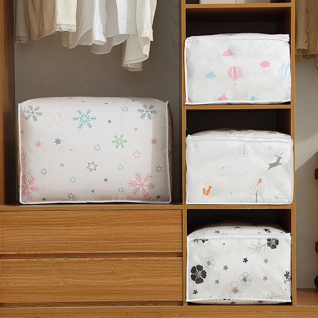 Foldable Storage Bags Folding Organizer Bag for Clothes Quilt Blanket Pillow 4