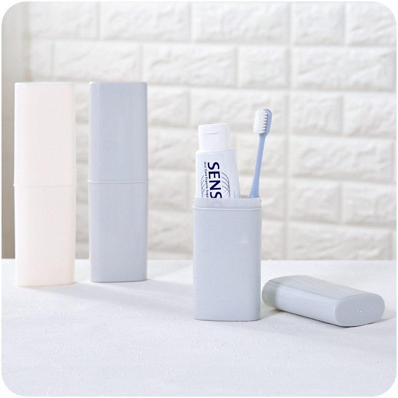 Nordic Design Bathroom Toothbrush Storage Case Travel Camping Portable Toothbrush Holder Case Tooth Brush Storage Para Banheiro image