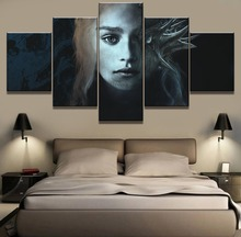 Framework 5 Piece HD Print Large Game of Thrones Painting Canvas Wall Art Picture Home Decoration Living Room