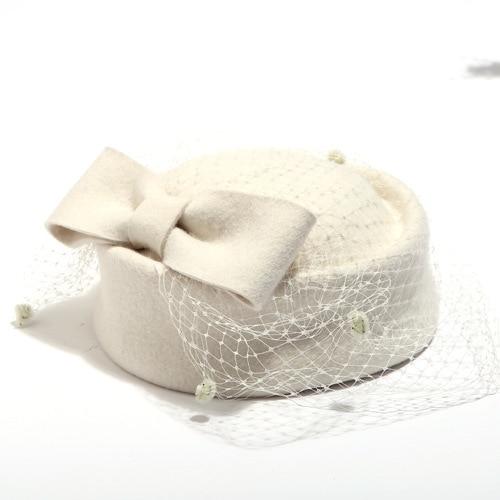 Winter Party Veil Beret Hat...