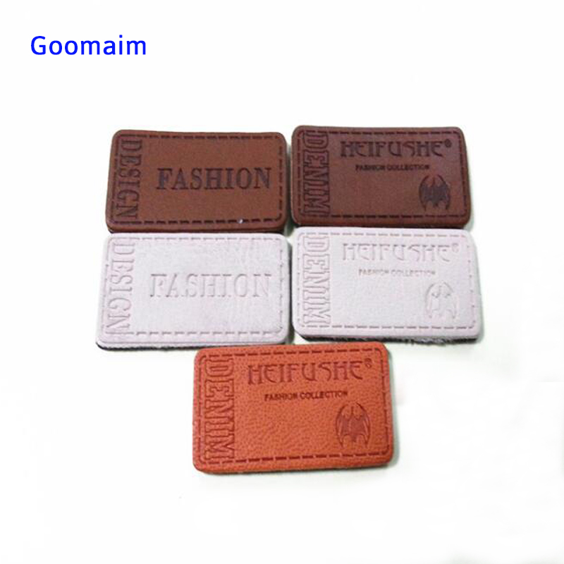 Leather Label Custom In Garment Labels Sowing Clothes Handmade Embossed Leather Tag Patches For Bag Personalized Name Tag