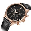 Watch Men Quartz Watches Brand Relogio Masculino Reloj  Waterproof sports Wristwatches Male Wrist Watch Genuine leather Strap