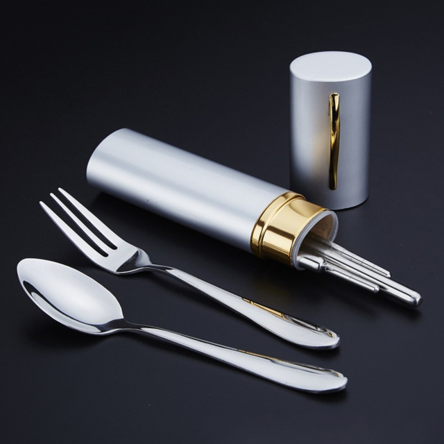 Outdoor Spoon Fork With Storage Case 1