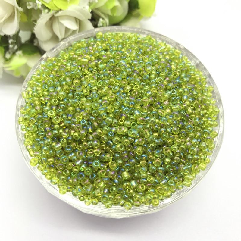 1000 шт 2 мм очаровательный чешский стеклянный бисер DIY браслет ожерелье для изготовления ювелирных изделий Аксессуары - Цвет: 56