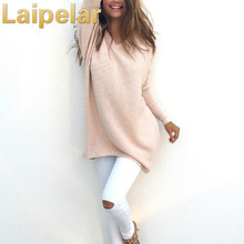 Laipelar All Match Basic Style Loose Casual Fashion Solid O-neck Long Sleeve Female Sweaters Autumn Winter Tops Pullover