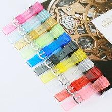 цена Watch accessories 14mm men resin transparent strap For Casio BABY-G BA-110 111 112 120 34A women sports silicone rubber strap онлайн в 2017 году