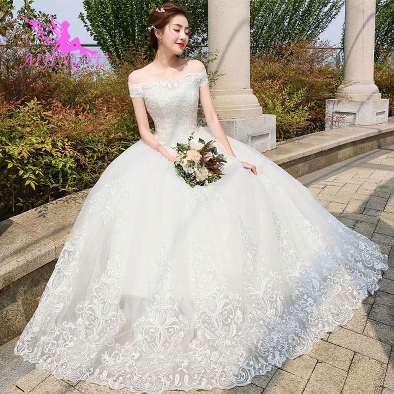 AIJINGYU Party Dress 2018 Bride Wedding Dresses Turkey WK422