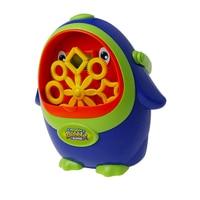 Portable Cute Penguin Automatic Bubble Machine Blower Maker Kids Summer Outdoor Toy