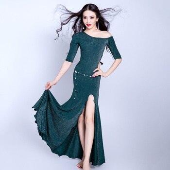 Belly Dance Dress Women Sexy Carnaval Long Dress Bellydance Clothing Adult Lady Oriental Professional Performance Wear DNV10765
