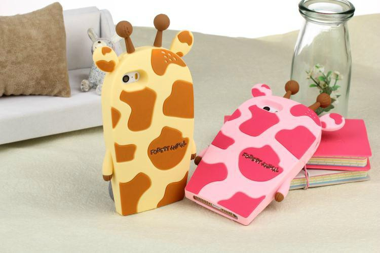 Cute Cartoon Giraffe Case For Coque iPhone 5 Case Lovely Animal Carcasa Silicone Luxury Funda For Capa Para iPhone 5s SE Capinha