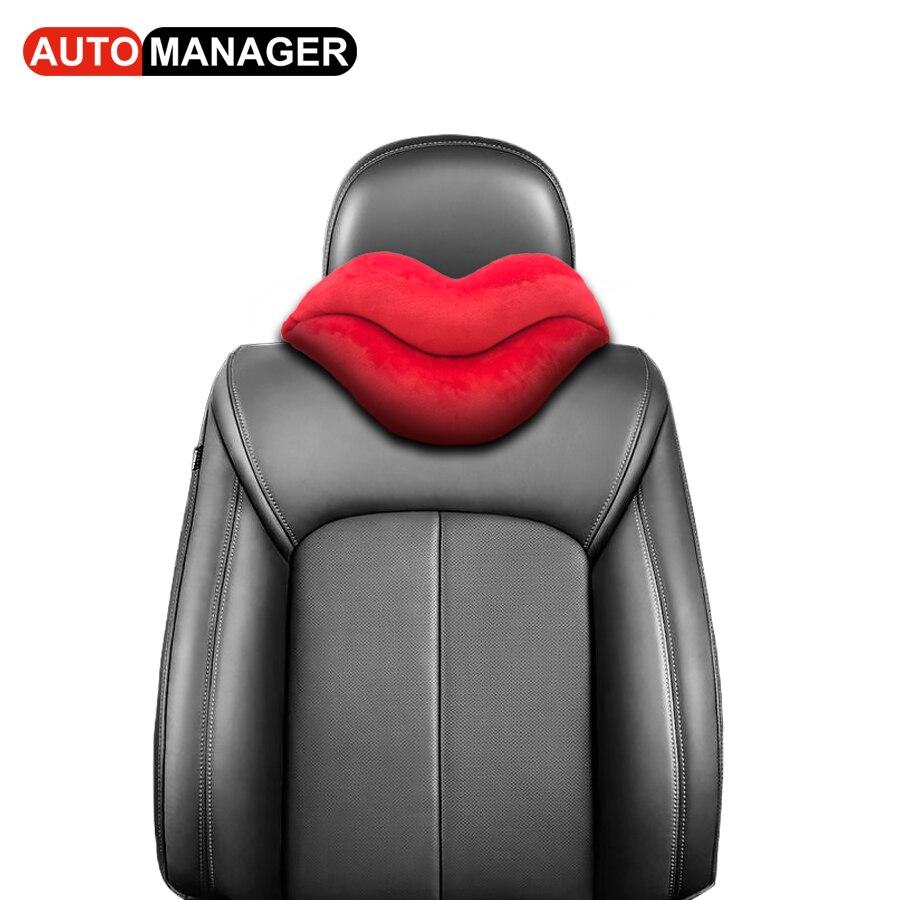 Neck Pillow Car Headrest Auto Seat Neck Rest Pillows Head Restraint Automobile Head Support Cushion