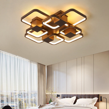 Modern LED Ceiling Lights Creative Coffee Square Minimalism Lamp For Living Room Bedroom Home Lighting Fixtures Ceiling Lamp недорого