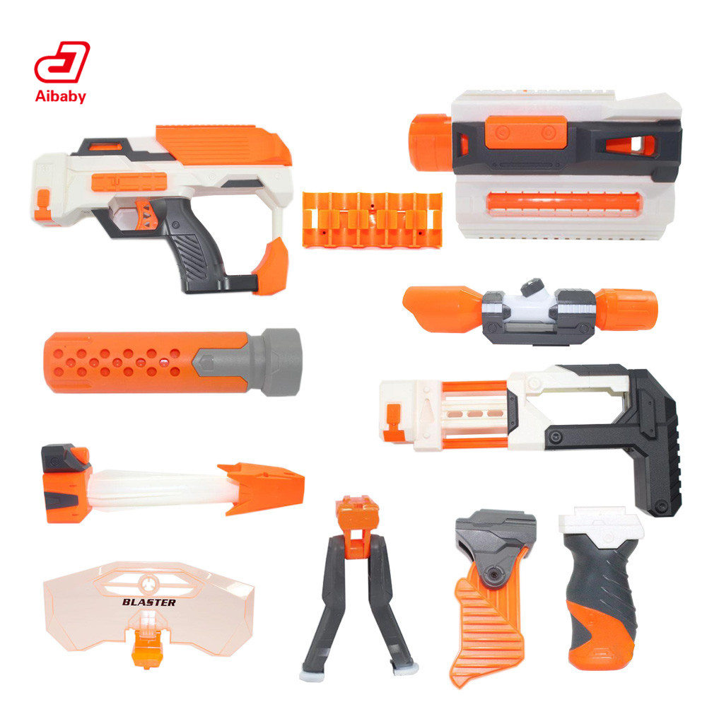 Tactical Toy Gun Modified Part Component For Nerf N-strick Seises Blasters Kid Mini Gun Toys Outdoor Fun Pistola