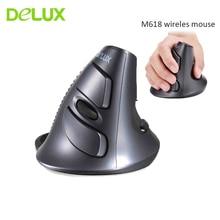 Delux M618 Wireless Vertical font b Mouse b font Ergonomic Healthy font b Mouse b font
