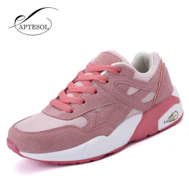 Pink Hard Court Running Shoes Breathable Fashion Lace-Up Sneakers for Women- 6