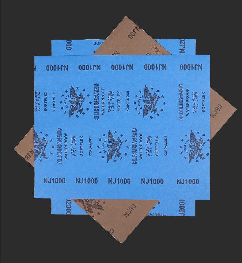Hand Tore Emery Cloth Roll, Abrasive Belt, Sand Paper, Metal, Wood Root Carving Furniture Polish Burnish,80-10000mesh 10pcs/lot