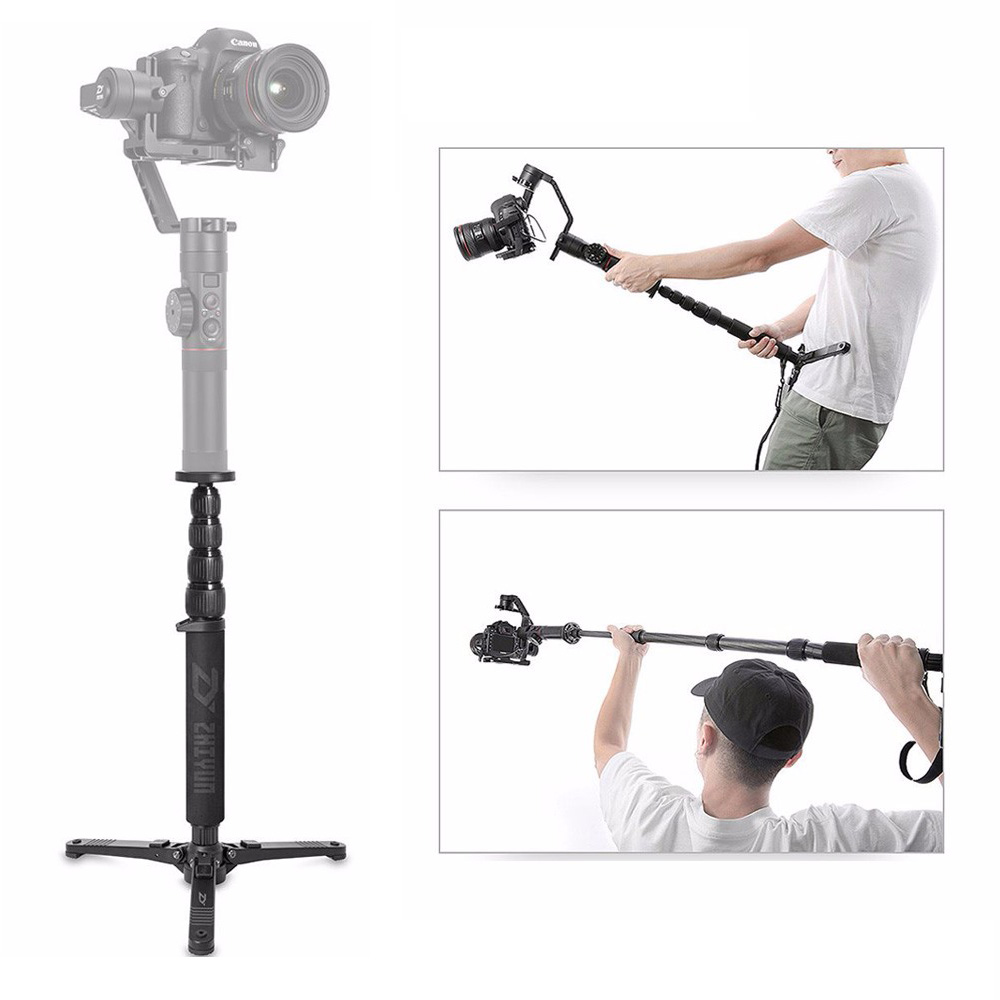 Zhiyun Official Telescopic Monopod for Crane 2 Handheld Gimbal Stabilizer with 1/4 Mounting Screw,for Gimbals
