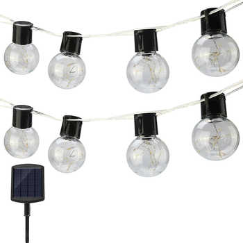 Solar Globe 10/20/30 LED Ball String Lights Solar Power Backyard Patio Holiday Christmas Light for Home Garden Party Decorations