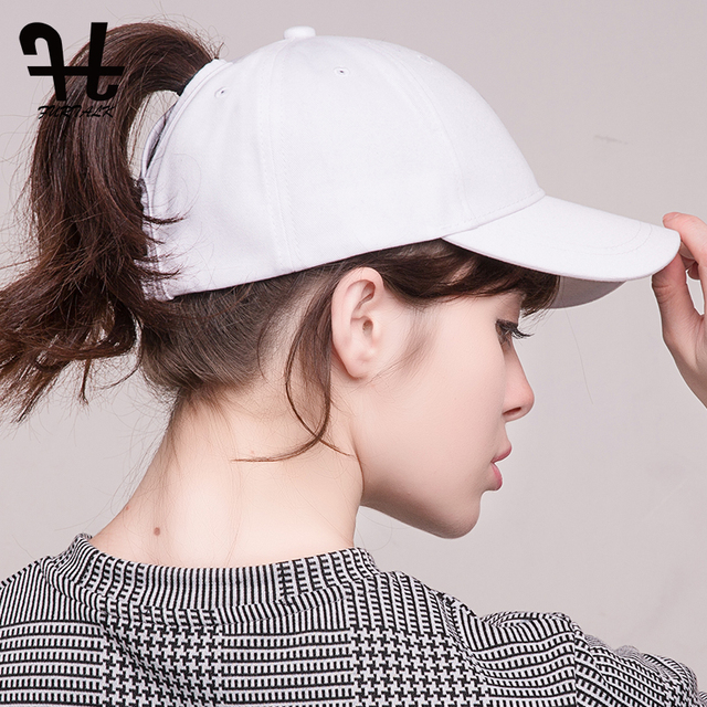 FURTALK Dropshipping 2018 Summer Women Baseball Cap Sport Messy Bun Cap  High Ponytail Baseball Cap Outdoor Sunscreen Hat Cap b10de247a6f
