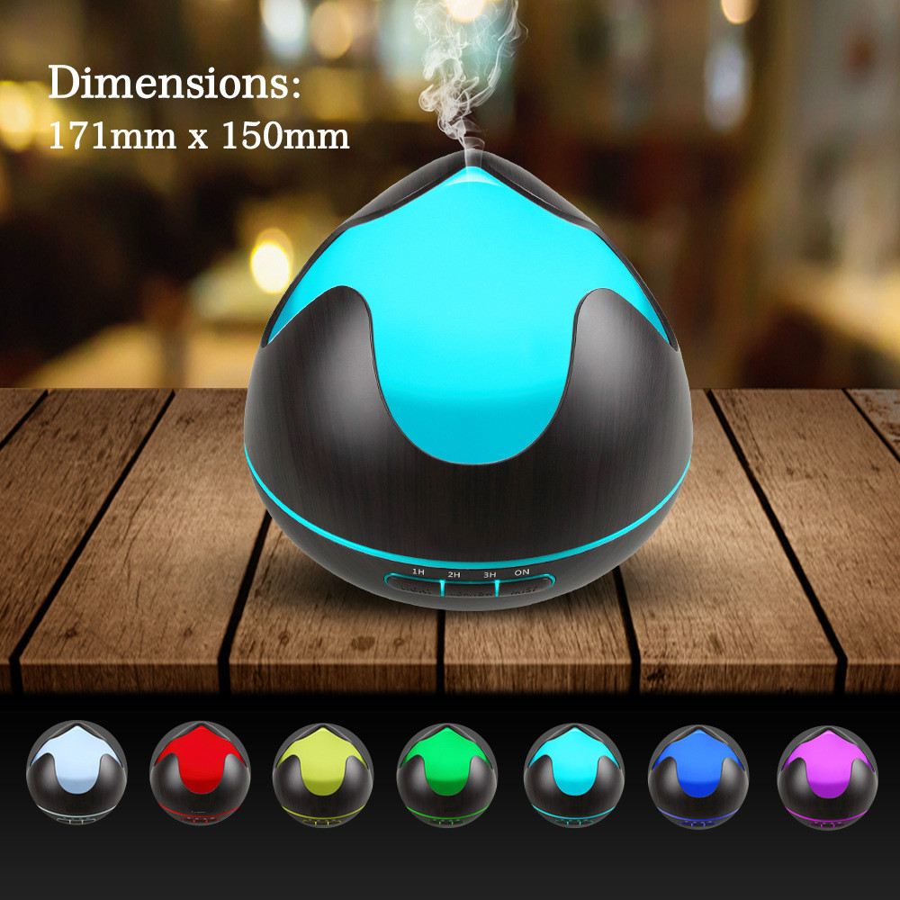 300ml Air Humidifier Eletric Essential Oil Aroma Diffuser 7 Colors LED Night Light Air Purifier Mist Maker for Home Bedroom