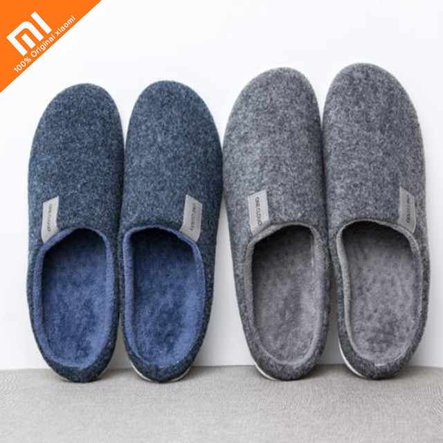 Original xiaomi mijia wool felt can pull insole cotton slip non-slip slippers men and women home winter slippers