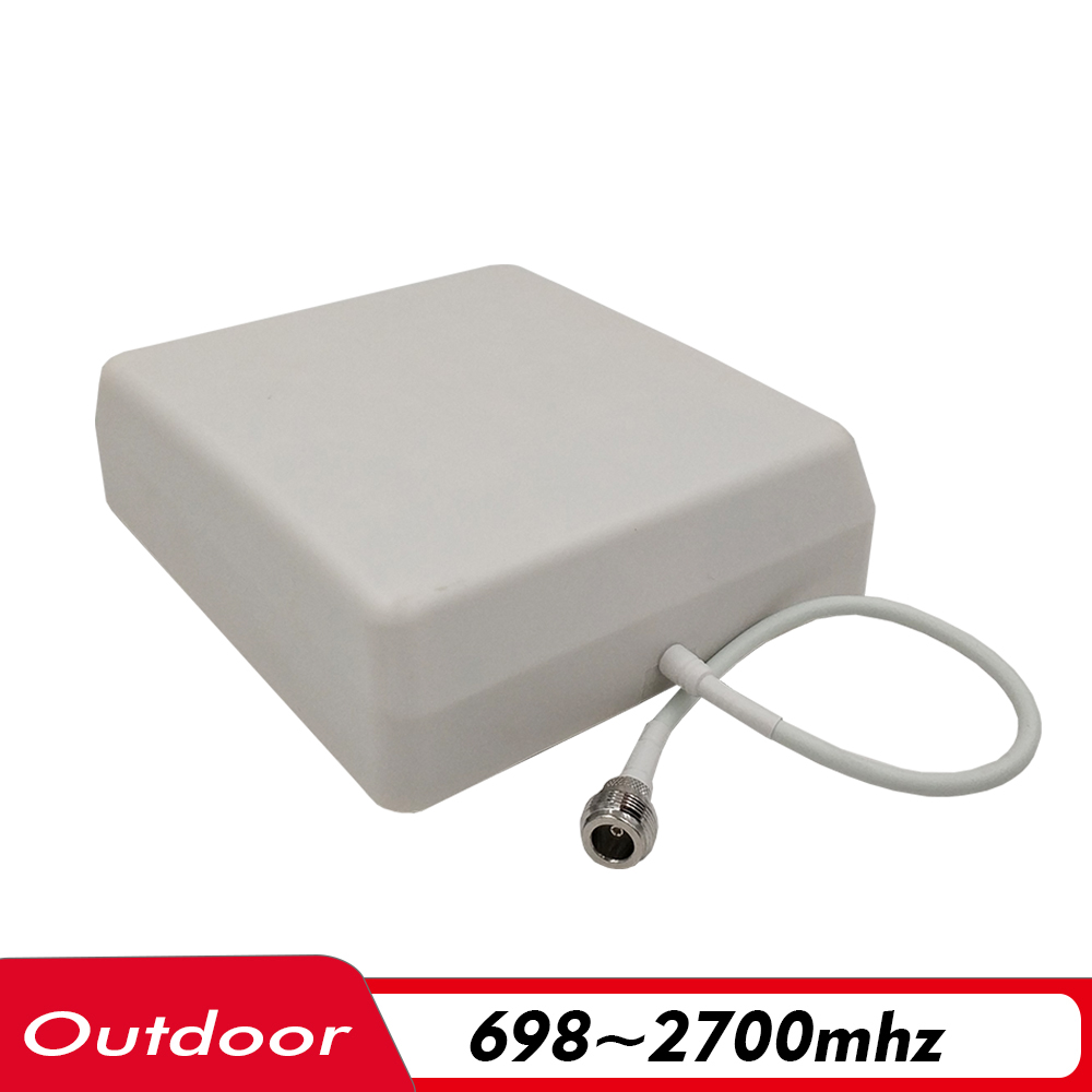 700~2700MHz 9dBi Gain Outdoor Panel Antenna N-Female 0.3m External Antenna For 2G 3G 4G Signal Booster Cellphone Signal Repeater