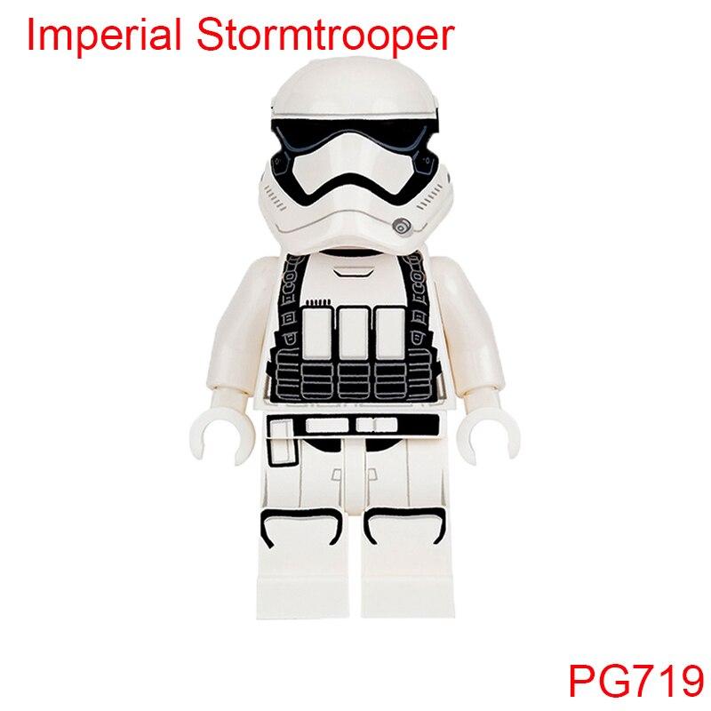 Pg719 First Order Silver Stormtrooper Helmet Stormtroopers Heavy Gunner Models Building Blocks Toys Children Gifts Single Sale
