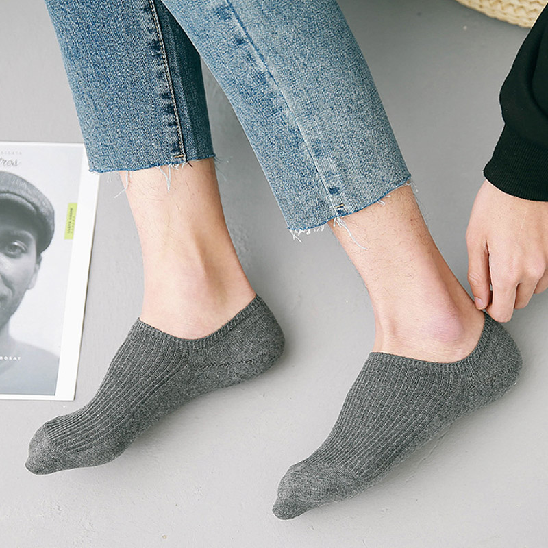 Summer Fashion High Quality Cotton Mens Socks Invisible Shallow Mouth silicone non-slip Short Boat Socks For Men Slippers D212