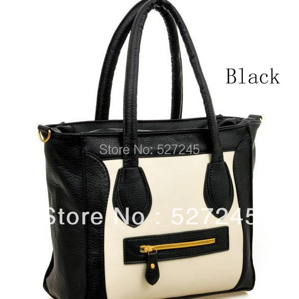 Free shipping 2014 New designer women's Boston Tote fashion micheal leather Handbag bags Smiling face bag