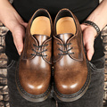 Plus size (39~47) New Style Genuine Leather Boots Dr.Chukka Low Martin Boots Men Brand Motorcycle Boots Vintage Style Shoes Man
