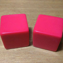 Free shipping 2pcs 6-sided 25mm Square corners red color blank dice can be written by marker pen for boardgame accessories