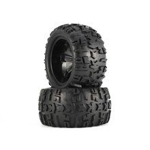 цена на 4Pcs 150mm Wheel Rim and Tires for 1/8 Monster Truck Traxxas HSP HPI E-MAXX Savage Flux Racing RC Car Model Toys Hobby Parts