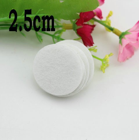 Fabric Flower Flatback 2.5cm Round Felt Circles White Color Patch Felt Fabric Felt Pads DIY Flower Material 1000pcs/lot