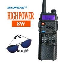 Heißer Tragbare Radio Baofeng 5R 8 watt UV5R Radio station Baofeng Talkie VHF UHF portofoon walkie talkie Baofeng UV 5R Communicator