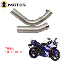 ZS MOTOS YZF R1 Motorcycle Motocross Middle Pipe Exhaust Muffler Side Row For YAMAHA YZF R1 2009-2014 without exhaust