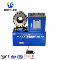 Factory sales directly 380v 3kw 2 inch BNT68 Pipes Processing Hydraulic Hose Crimping Machine with 10 sets of dies