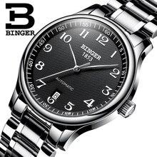 BINGER reloj mecánico automático de lujo para hombre, zafiro, militar, resistente al agua, BG 0379 2