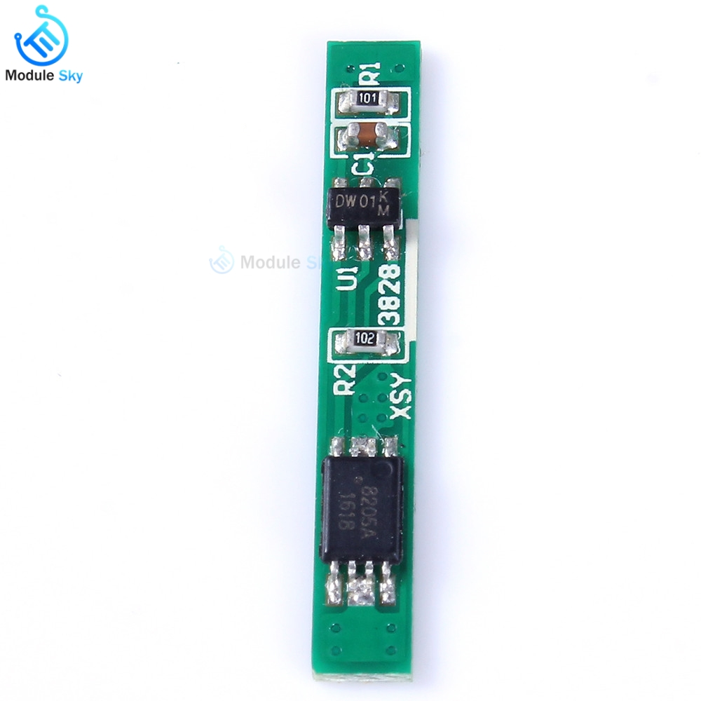 Li-ion Lithium Battery Charge Protection board 18650 battery PCB bms 1S 3.7V 2.5A Board Motor Lipo Cell Module battery balancerLi-ion Lithium Battery Charge Protection board 18650 battery PCB bms 1S 3.7V 2.5A Board Motor Lipo Cell Module battery balancer