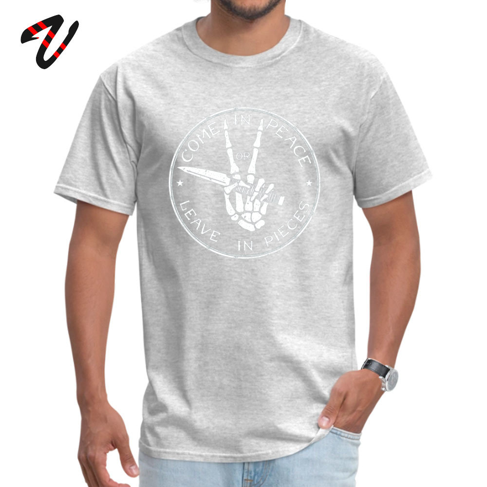 Street Come in Peace T-Shirt 2019 Discount Summer Short Sleeve O-Neck Tops Shirt Cotton Men's Fitness Tight T-Shirt Come in Peace 3117 grey