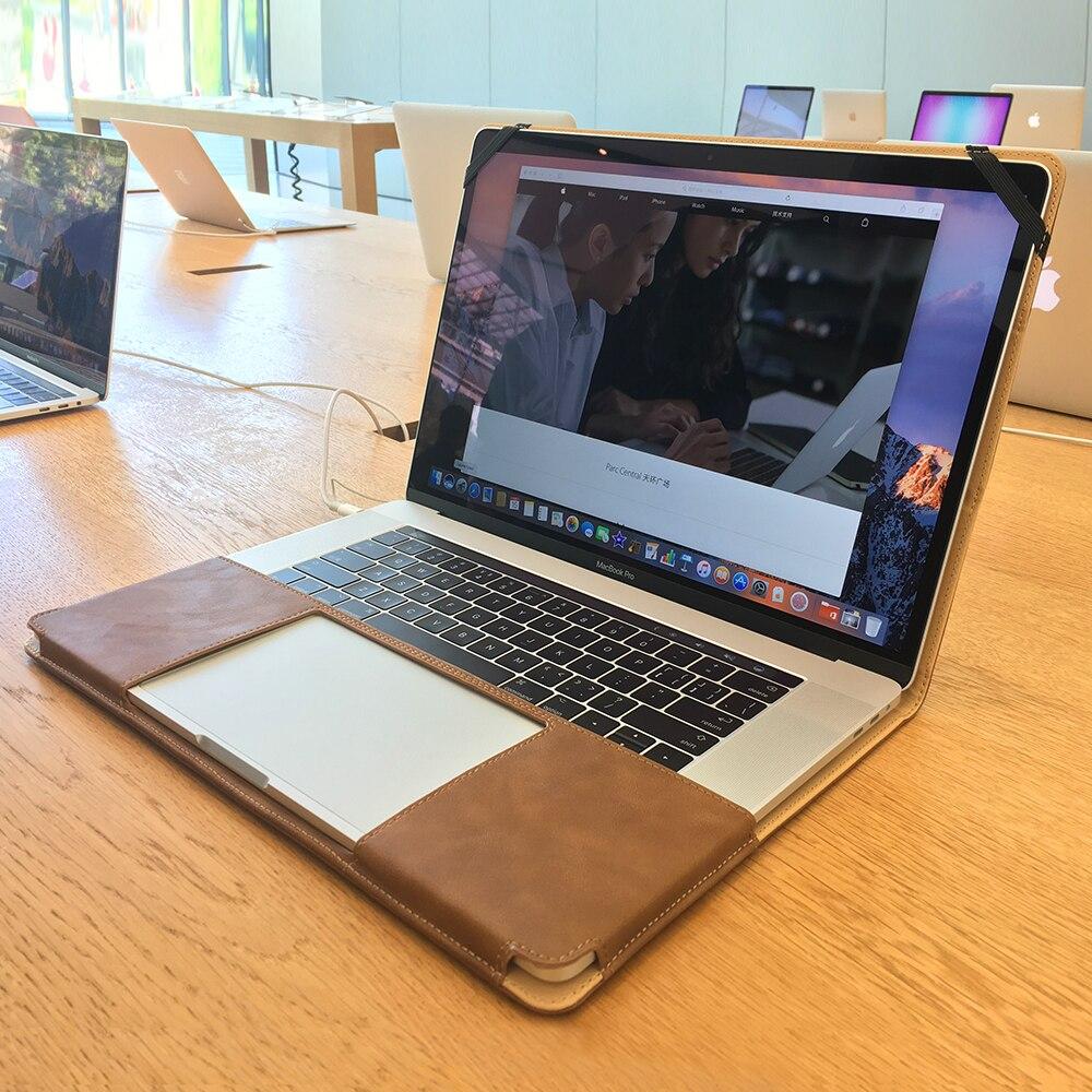 Jisoncase Pour Ordinateur Portable étui pour macbook Pro Retina 13 pouces 2016 avec Touch Bar De Luxe Conception de Support de Cahier de Couverture En Cuir PU Sac