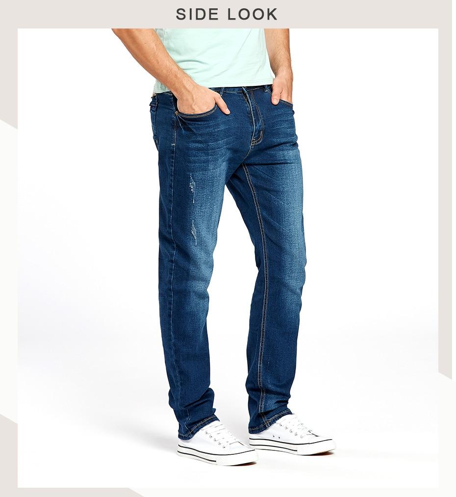 946d2370efdd52 Drizzte Blue Jeans Mens Fashion Men's Casual Stretch Denim Jean for Men  Male Trousers Pants Sale