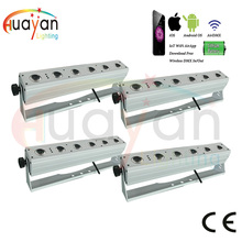 Free Shipping:4pcs/Pack SmartLine S6 Wireless DMX Battery Powered LED Bar for wedding party Wedding Backdrop Floor