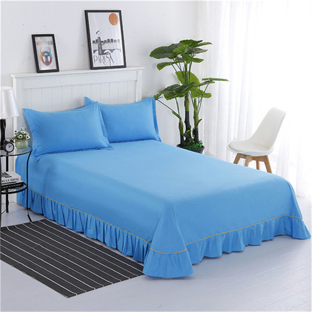 100% Cotton High Quality Fashion Hot Dark Blue Bedding Three Sets Of  Comfortable Beautiful Bed
